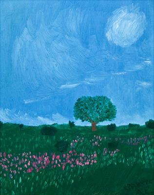 "Картина - ""Дерево в поле"""